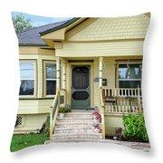 Suburban Victorian Cottage House Hayward California 37 Throw Pillow