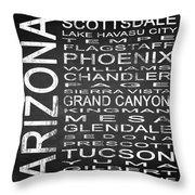 Subway Arizona State Square Throw Pillow