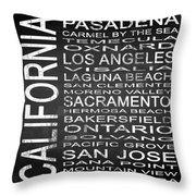Subway California State 2 Square Throw Pillow