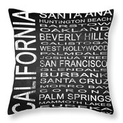 Subway California State Square Throw Pillow