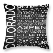 Subway Colorado State 2 Square Throw Pillow