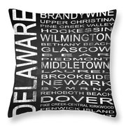 Subway Delaware State Square Throw Pillow
