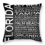 Subway Florida State 3 Square Throw Pillow