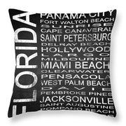 Subway Florida State Square Throw Pillow