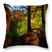 Subway Forest Throw Pillow