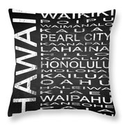 Subway Hawaii State Square Throw Pillow