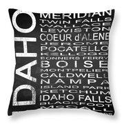 Subway Idaho State Square Throw Pillow