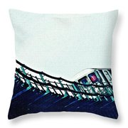 Subway In The Sky Throw Pillow