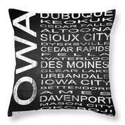 Subway Iowa State Square Throw Pillow