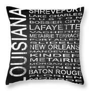 Subway Louisiana State Square Throw Pillow