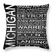 Subway Michigan State Square Throw Pillow