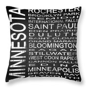 Subway Minnesota State Square Throw Pillow
