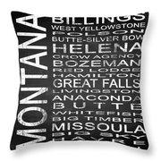 Subway Montana State Square Throw Pillow
