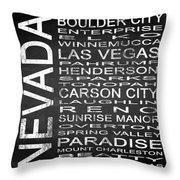 Subway Nevada State Square Throw Pillow