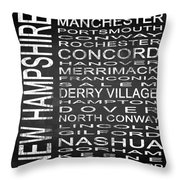Subway New Hampshire State Square Throw Pillow