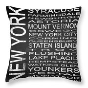 Subway New York State 2 Square Throw Pillow