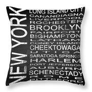 Subway New York State 3 Square Throw Pillow