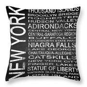 Subway New York State 4 Square Throw Pillow