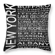 Subway New York State Square Throw Pillow
