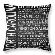 Subway North Carolina State Square Throw Pillow