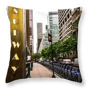Subway Nyc Throw Pillow