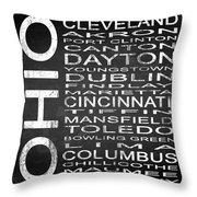 Subway Ohio State Square Throw Pillow