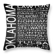 Subway Oklahoma State Square Throw Pillow