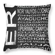Subway Peru 3 Throw Pillow