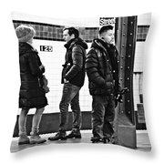 Subway Platform At 125th Street Throw Pillow