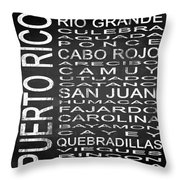 Subway Puerto Rico Square Throw Pillow