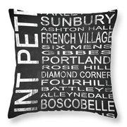 Subway Saint Peter Barbados 1 Throw Pillow