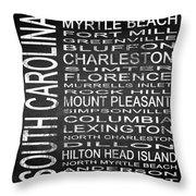 Subway South Carolina State Square Throw Pillow