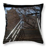 Subway Stairs Throw Pillow