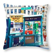 Subway Station Entrance 4 Throw Pillow
