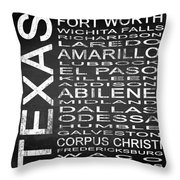 Subway Texas State 2 Square Throw Pillow