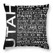 Subway Utah State Square Throw Pillow