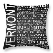 Subway Vermont State Square Throw Pillow