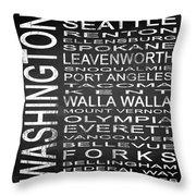 Subway Washington State Square Throw Pillow