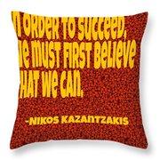 Succeed Throw Pillow