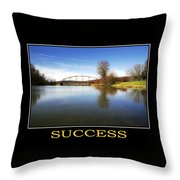 Success Inspirational Motivational Poster Art Throw Pillow