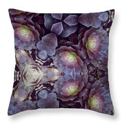 Succulent And Lavender Throw Pillow