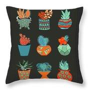 Succulent Garden No. 1 Throw Pillow