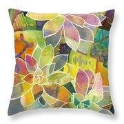 Succulent Mirage 1 Throw Pillow by Hailey E Herrera