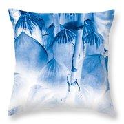 Succulents In Bleu Throw Pillow