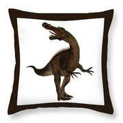 Suchimimus Profile Throw Pillow