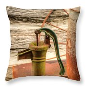 Suction Water Pump Throw Pillow