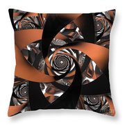 Suede Spiral Throw Pillow