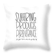 Suffering Throw Pillow