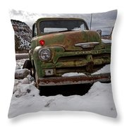 Suffering The Snow Throw Pillow