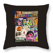 Suffering Through Desirability Throw Pillow